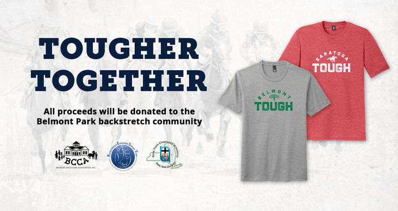 NYRA launches Belmont and Saratoga Tough t-shirt campaign to benefit backstretch community