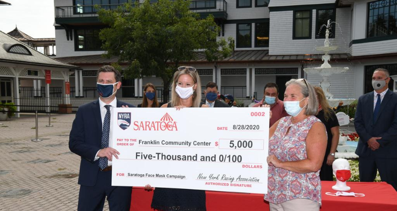 Saratoga Race Course face mask campaign raises $20,000 for Saratoga Springs-based non-profit organiz