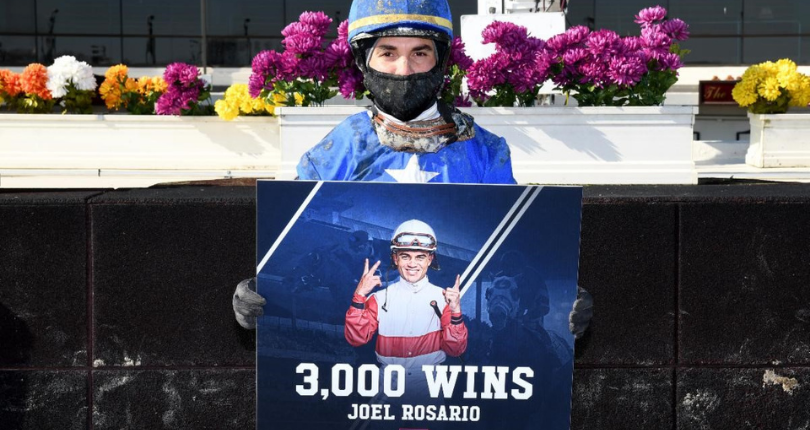 Joel Rosario records 3,000th career win at the Big A