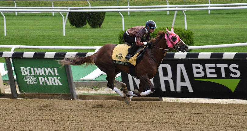 Master Fencer posts final breeze for G1 Belmont Stakes