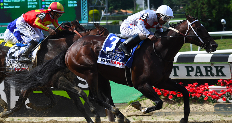 Mitole comes out on top in loaded G1 Met Mile